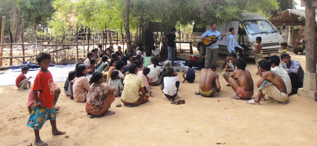 Community Rural Cambodia Music Arts